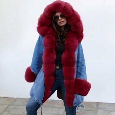 Parka Coat with Premium Fur Trim and Faux Fur Hood_1