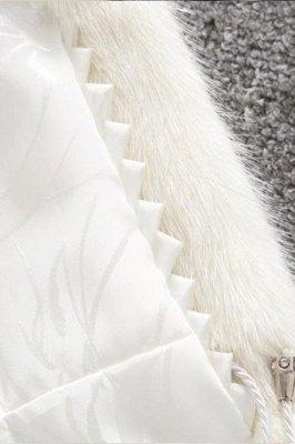 Women's Fashion Hooded White Fox Fur Coat_18