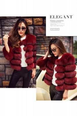 Tiered Fox Fur Coat with Full Fur Collar and Cuffs_29