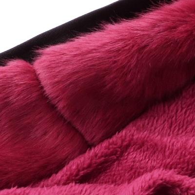 Premium Fur Trimmed Parka Coat with Faux Fur Hood_48