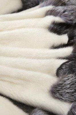 Women's Fashion Hooded White Fox Fur Coat_15
