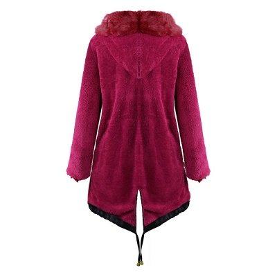 Premium Fur Trimmed Parka Coat with Faux Fur Hood_19