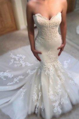 Glamorous Mermaid Wedding Dresses | Sweetheart Appliques Bridal Gowns_2