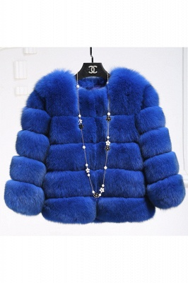 Tiered Fox Fur Coat with Full Fur Collar and Cuffs_45