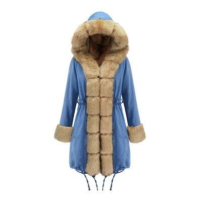 Parka Coat with Premium Fur Trim and Faux Fur Hood_44