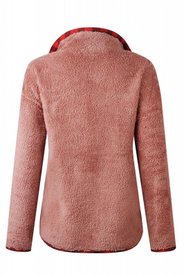 Women's Fall Winter Halp Zip Fuzzy Pullovers_1