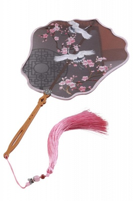 Chinese-Style Classic Double-Sided Hand-Embroidered Eight Petal Court Fan