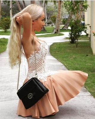 Elegant Spaghetti-Strap Homecoming Dresses | A-Line Appliques Cocktail Dresses_4
