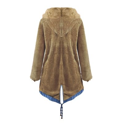 Parka Coat with Premium Fur Trim and Faux Fur Hood_45