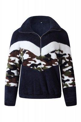 Womens Fuzzy  Halp Zip Fleece Winter Sherpa Sweaters Pullovers_1