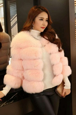 Tiered Fox Fur Coat with Full Fur Collar and Cuffs_14