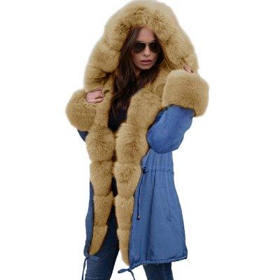 Parka Coat with Premium Fur Trim and Faux Fur Hood_50