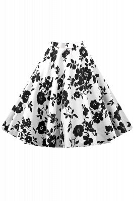 Retro A-line Floral?Printed Short Skirt