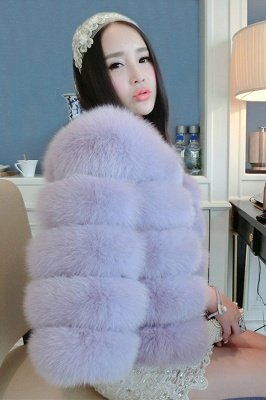 Tiered Fox Fur Coat with Full Fur Collar and Cuffs_39