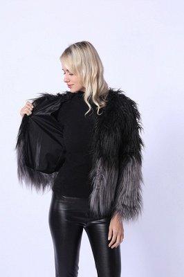 Women's Lovely Pink Faux Fur Duster Coat_2