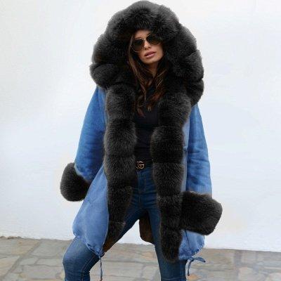 Parka Coat with Premium Fur Trim and Faux Fur Hood_9