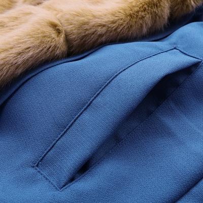 Parka Coat with Premium Fur Trim and Faux Fur Hood_58