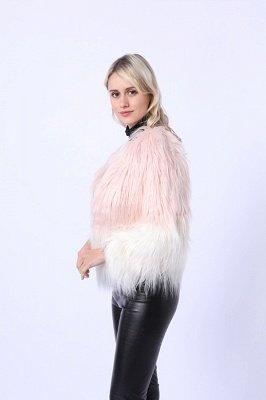 Women's Lovely Pink Faux Fur Duster Coat_5