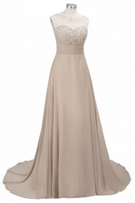 Cheap Grape A-line Sleeveless Sweep Train Prom Dress_8