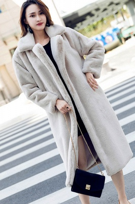 Women's Winter Faux Shearling Taffeta Coat_5