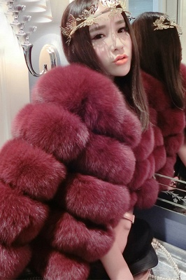 Tiered Fox Fur Coat with Full Fur Collar and Cuffs_42