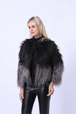 Women's Lovely Pink Faux Fur Duster Coat_10