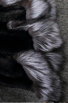 Women's Fashion Hooded White Fox Fur Coat_11