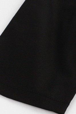 Vintage 1/2 Sleeve Wintersweet Embroidery Black Swing Dress_11