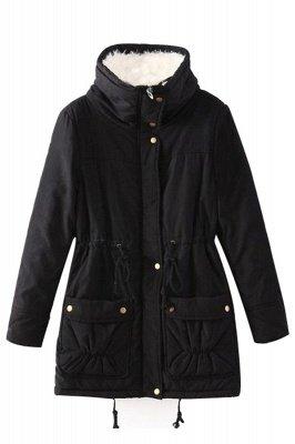 Women's Fashion Hunt Lamb Wool Collar Parka Coat_21
