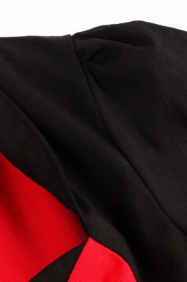 1/2 Sleeve 1950S Red and Black Retro Dress_6