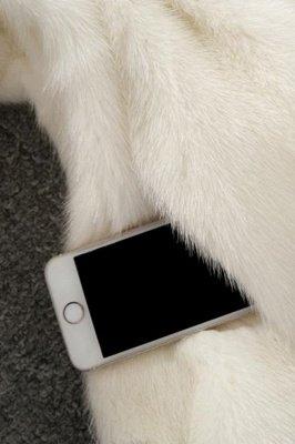 Women's Fashion Hooded White Fox Fur Coat_19