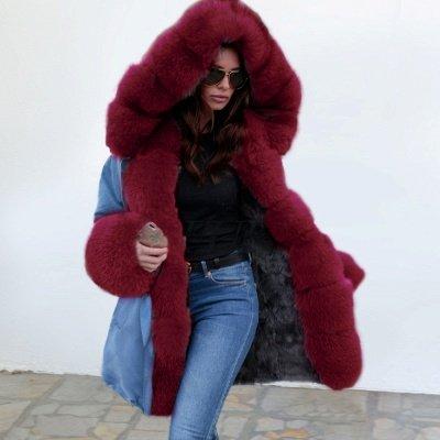 Parka Coat with Premium Fur Trim and Faux Fur Hood_6