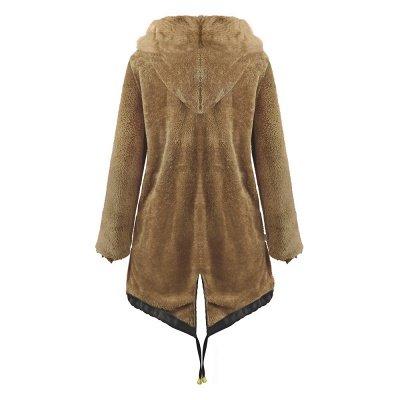 Premium Fur Trimmed Parka Coat with Faux Fur Hood_23