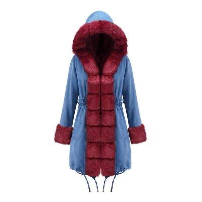Parka Coat with Premium Fur Trim and Faux Fur Hood_38