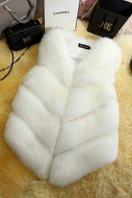 Grey Collarless Layered Fox Fur Gilet_2