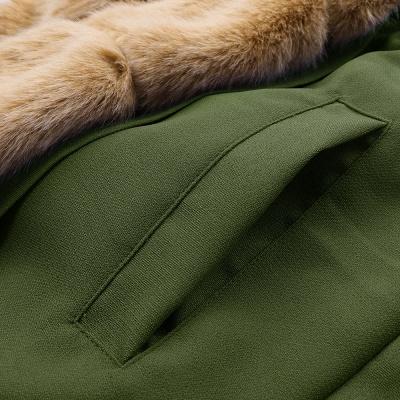 Premium Fur Trimmed Parka Coat with Faux Fur Hood_51