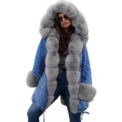 Parka Coat with Premium Fur Trim and Faux Fur Hood_34