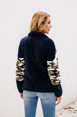 Womens Fuzzy  Halp Zip Fleece Winter Sherpa Sweaters Pullovers_10