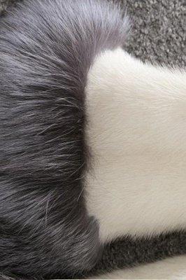 Women's Fashion Hooded White Fox Fur Coat_16