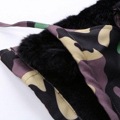 Camo Military Premium Fur Trim Parka Coat with Faux Fur Hood_24