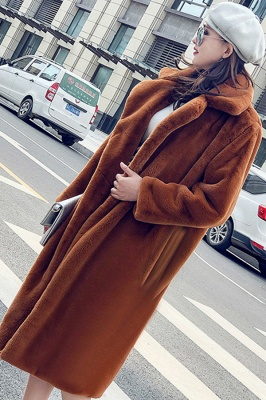 Women's Winter Faux Shearling Taffeta Coat_6