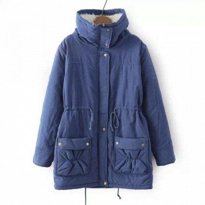 Women's Fashion Hunt Lamb Wool Collar Parka Coat_26