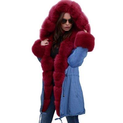 Parka Coat with Premium Fur Trim and Faux Fur Hood_51