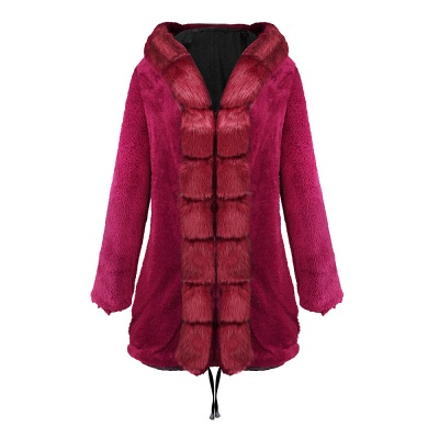 Premium Fur Trimmed Parka Coat with Faux Fur Hood_20