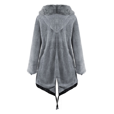 Premium Fur Trimmed Parka Coat with Faux Fur Hood_36