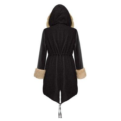Premium Fur Trimmed Parka Coat with Faux Fur Hood_21