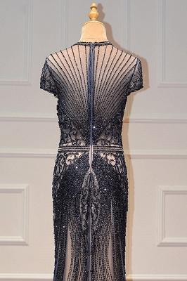 Luxury Cap Sleeves Keyhole Rhinestones Mermaid Prom Dresses | Gorgeous Beaded Evening Dress_27