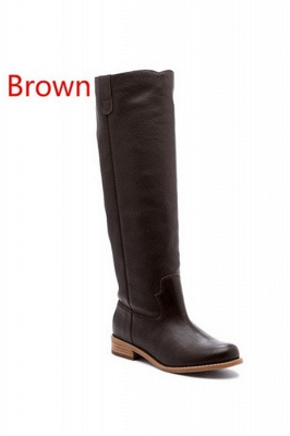 Fashion Brown Knee High Boots for Women_1