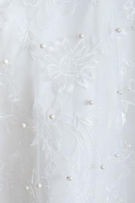 Floor Length Straps V-neck Backless A-line Wedding Dresses | Cheap Tulle Bridal Gowns_10