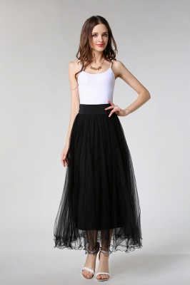 Bunny | White A-line Tulle Skirt_6